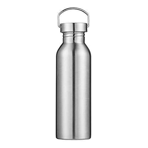CAIYAH Taza deportiva de doble capa taza de acero inoxidable botella de agua potable reutilizable adecuada para niños y adultos deportes al aire libre y fitness Argentífero D