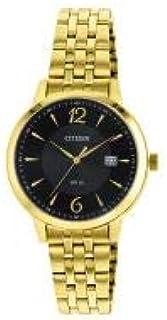 ساعة يد سيتيزن للنساء كوارتز مع سوار ستانلس ستيل بمينا اسود - hz0012-57e