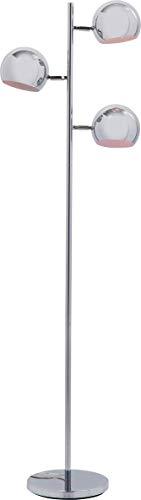 Kare Design Standleuchte Calotta Chrome, moderne Stehlampen im Retro Design, silber (H/B/T) 151x40x25,5cm