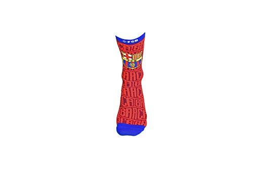 Official Pair of FC Barcelona Tri-Blend Red Crew Socks, Size 9-13
