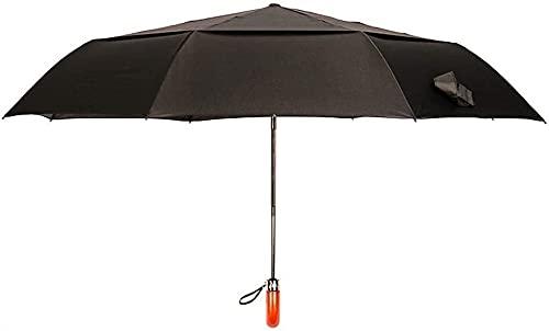 Paraguas pequeño y portátil para refugio del vient Umberllas plegable paraguas pesado liviano ocho óseo tripo de madera mano apertura automática apertura agua repelente lluvioso lluvia lluvia paraguas