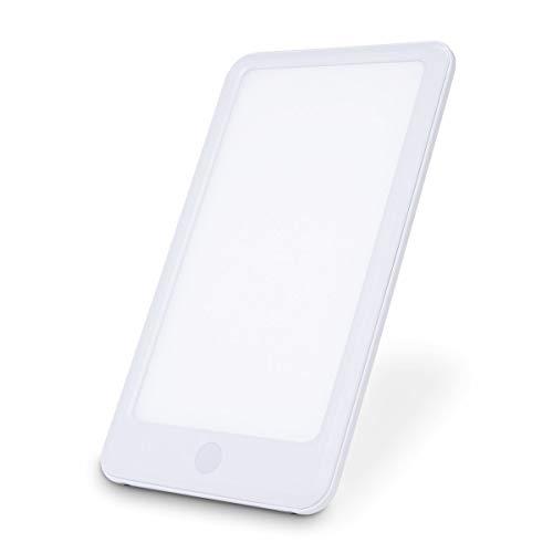 Lámpara de luz de día de energía, 10000 Lux Full Spectrum luz Brillante Blanco LED Feliz día con 2 Niveles Ajustables Lux para Office Home