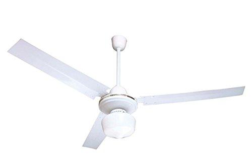 Scopri offerta per Ardes AR5A120L Ventilatore da Soffitto con Luce, 3 velocità, 3 Pale Metalliche, Comando a Muro, Bianco, Diametro 120 Cm