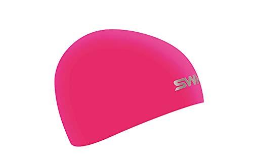 SWANS(スワンズ) スイムキャップ 水泳 競泳用 シリコーンキャップ ドーム型 Fina承認モデル フラッシュピンク SA-10S フリー
