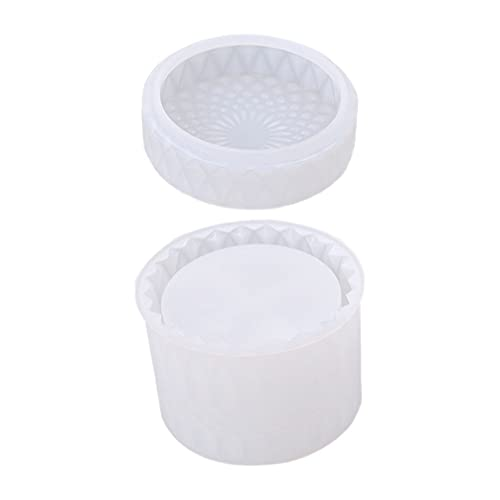 Minkissy Caja de Almacenamiento Moldes de Resina Tarro de Cristal de Silicona Caja de Joyería Caja de Anillo Molde Epoxi Botella de Almacenamiento Molde de Fundición para La Fabricación de