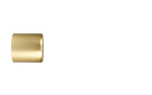 Endstück Kappe in Messing Optik für 20 mm Ø Gardinenstangen - Set 2