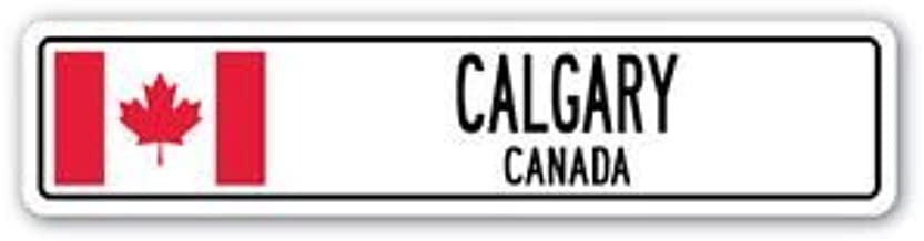 3 Pack: CALGARY, CANADA Street Sign Sticker 3