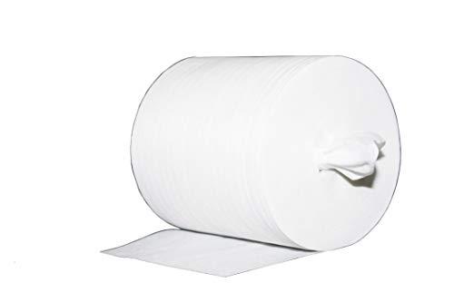 Reinigungstuch M-Wipes aus Spunlace | Weiß | Vliesrolle | Wischtuch | Reinigung & Hygiene | 17x25 cm | ca. 200 Abrisse | 1 Rolle