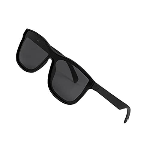 perfeclan Bluetooth 5.0 Gafas de audio Manos libres IP5 Gafas de sol impermeables Música compatible con IOS Android - Negro