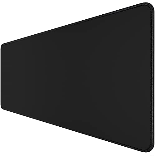 SmellalonLarge Gaming Mouse Pad (35.43 X 15.75X 0.12inch) Extended Ergonomic for Computers Thick Keyboard Mouse Mat Non-Slip Rubber Base Mouse pad Water-Resistant, for Work & Gaming, in Black