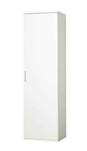 Wilmes Schrank Ronny 40 cm, 1 Tür, Weiß Dekor