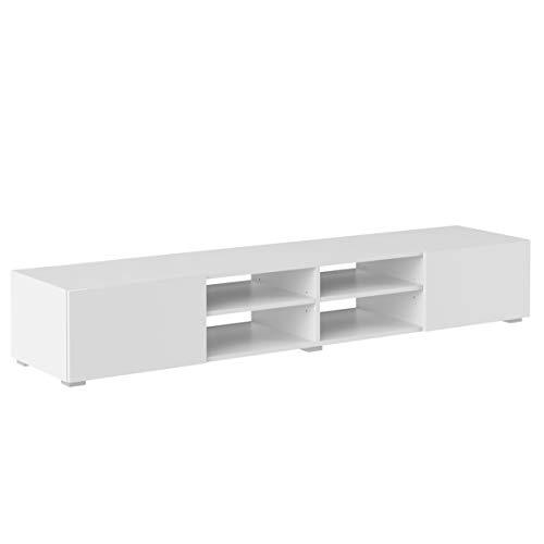 Amazon Marke -Movian Lijoki - TV-Board, 185x31x42cm, Weiß