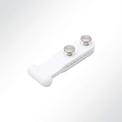 KROKOFIX® Schienengleiter für Kederschienen Stabkopfgleiter Nylon weiß mit Nieten 10mm