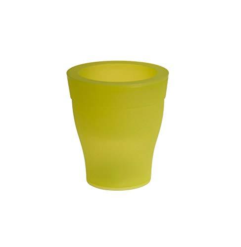 AC-Déco Cache-Pot - LED - D 17 Cm X H 19 Cm - Vert