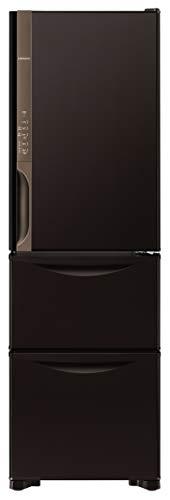 日立 冷蔵庫 315L 3ドア 右開き 幅54.0cm 奥行65.5cm まんなか野菜タイプ うるおいチルド うるおい野菜室 ダークブラウン R-K32JV TD