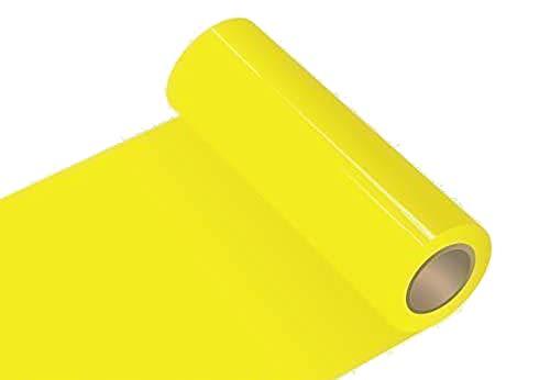 INDIGOS UG Oracal 651 - Orafol glänzend - Glanz - für Küchenschränke und Dekoration Folie 5m (Laufmeter) - 50 cm Folienhöhe - 21 - gelb glänzend Autobeschriftung Wandschutzfolie Möbel Aufkleber