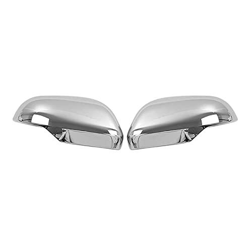 YUYAOYAO Coche Cromo Retro Vista Trasera Lateral de Cristal Espejo de Espejo con Marco de Adorno Espejo Lateral Tapas para Mitsubishi Aptos para Triton Fit para L200 2019-2021 (Color : Silver)