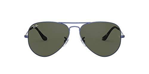 Ray-Ban Aviator Large RB3025-918731-62 Gafas, Blue/Metal, 62 Unisex Adulto