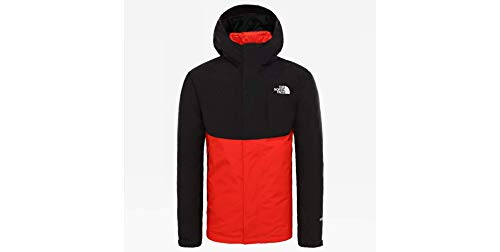 The North Face Mountain Light Triclimate Jacket TNF Black Fiery Red-L (XXL, Black Fiery Red)
