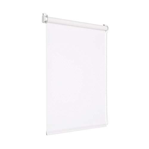 Victoria M. Tenebra Verdunkelungsrollo Rollo ohne Bohren für Fenster und Türen, 140 x 160 cm, weiß