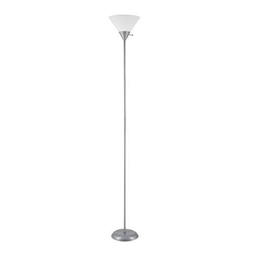 "Globe Electric 67150 Elliott Floor Lamp, 72"", Silver"