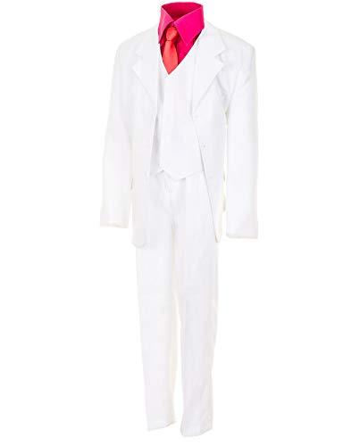 WEI KE XI 6tlg. Kinder Fest Anzug Kommunionsanzug Smoking extra Hemd in vielen Farben M305hpi Hemd Pink Gr. 8/128 / 134