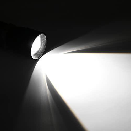 Sxhlseller Linterna de Emergencia LED Multifuncional, Material de aleación de Aluminio Linterna Ajustable con Cable de Carga USB Adecuado para Transporte Diario al Aire Libre(Long 8520)