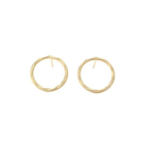 Pendientes de aro para mujer, de plata de ley 925, minimalistas, redondos, de 1 unidad