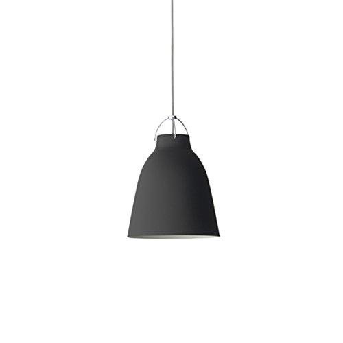 Lightyears Shapes - Pendelleuchte - Caravaggio P2 - schwarz mit grauem Kabel - Ø258mm - E27