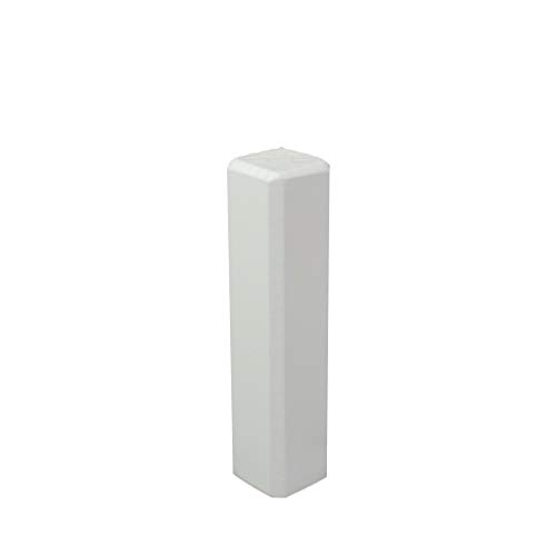 Trevendo® Eckturm 4er Pack Eckstab Innenecke, Außenecke Leisten Verbinder Echtholz weiß lackiert (22 x 22 x 95 mm (E5))