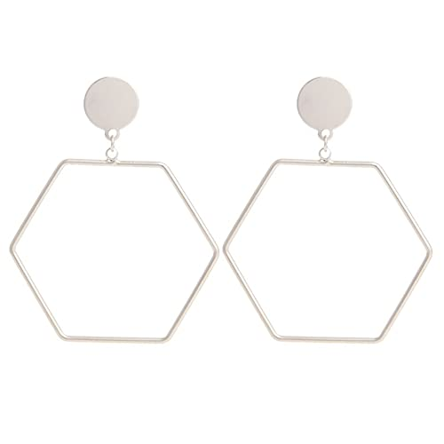 Dpatleten Pendientes de aro llamativos geométricos Ligeros Simples, círculo para Mujeres, joyería Elegante de Temperamento