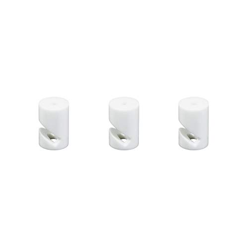 Kit de descentralización de gancho en V para techo o pared universal para cable eléctrico textil – Pack de 3 - Blanco