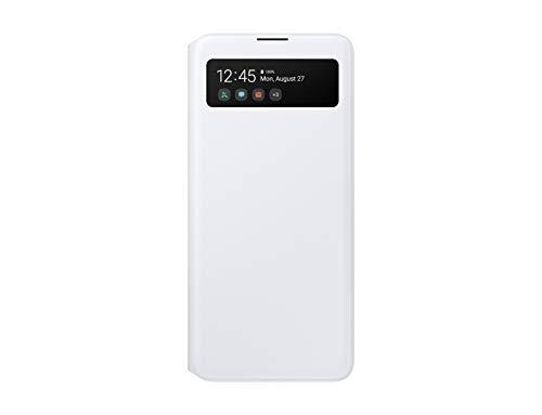 Samsung S View Smartphone Cover EF-EA515 für Galaxy A51, Handy-Hülle, stoßfest, Schutz Hülle, integriertes Sichtfenster weiß - 6.5 Zoll