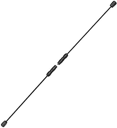 ZHEYANG G0820 - Barra de fitness elástica (fibra de vidrio, para pérdida de peso, entrenamiento de profundidad de cuerpo entero, moldeador del cuerpo, extraíble, color negro)