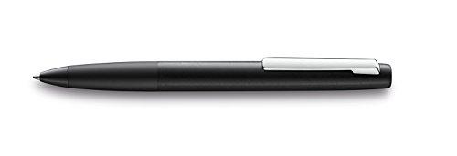 LAMY aion Kugelschreiber 277 – Einzigartiger Kuli aus Aluminium in der Farbe Schwarz, seidenmatt mit Drehmechanik – Mit Großraummine – Strichbreite M