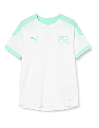PUMA Sfv Training Jersey Jr Camiseta, Niños, White-Green Glimmer, 152