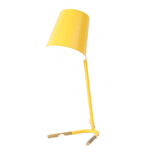 ZLD Nordic Creative Wrought Iron Table lamp Modern Minimalist Table lamp Macaron Color Table lamp Theme Hotel Decoration lamp Modern Living Room Table lamp Bedroom Study Table lamp,Yellow
