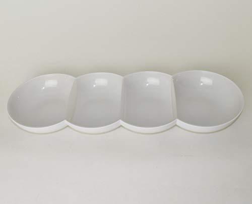 TUPPERWARE Allegra Servierschale Servierquartett Perle Weiß/Silber + Eiswürfeleinsatz für EcoEasy Flaschen