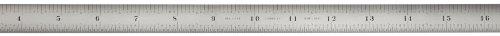 Starrett C331-300 Voller, flexibler Stahl-Lineal mit Millimeter- und Zoll-Teilung, 300 mm Länge, 12,7 mm Breite, 0,4 mm Dicke