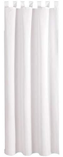 Bestlivings Blickdichte Weiße Gardine mit Schlaufen in 140x245 cm (BxL), in vielen Größen und Farben
