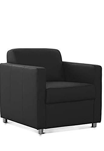 CAVADORE Corianne Sessel, mit Federkern, Ledersessel Design, 78 x 80 x 83, Echtleder: schwarz