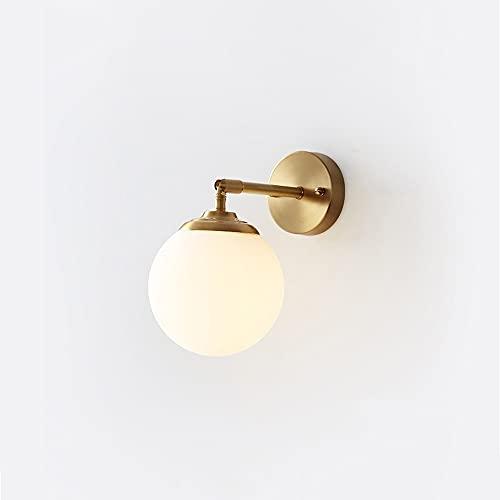 E27 180 ° Lámpara giratoria de lujo de todo cobre Lámpara de cama moderna moderna Lámpara de cama creativa Lámpara de dormitorio Cuarto de estar TELEVISOR Fondo Lámpara de pared Personalidad Red Lámpa