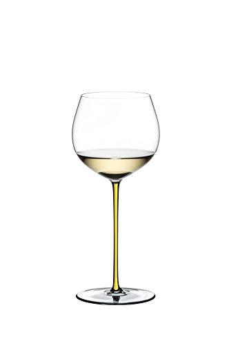 Riedel Fatto A Mano Old World Weinglas im Eichenfass gereifter Chardonnay (Oaked Chardonnay) gelb