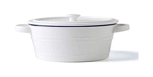 Cuenco de la cultura popular tazón de familia de la ensalada de frutas tazón de cerámica bol bol bol que come el helado cuenco de la cultura popular ( Color : White , Size : 27*10CM/10*3INCH )