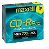 Maxell Cd-r Pro for Photo 48x 700mb 5 Pack