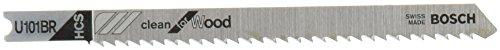 Bosch U101BR 5-Piece 4 In. 10 TPI Reverse Pitch Clean for Wood U-shank Jig Saw Blades