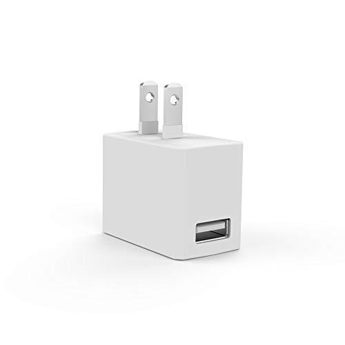 充電器 ACアダプター NITIKA USB急速充電器 2.1A出力 1ポート長寿命設計 iPhone&Android&タブレット対応 USBポートX 1(2.1A出力) ACコンセント ホワイト