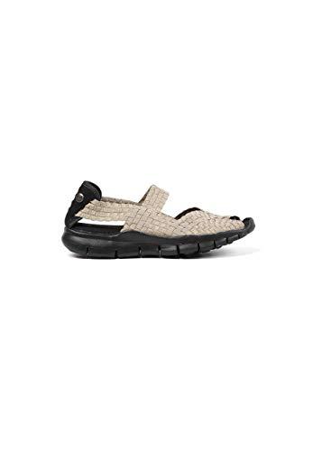 B M BERNIE MEV NEW YORK Women's Juliet Open Toe Sandals with Stylish Cut-Outs - Juliet es una Deportiva Plana con Planta de Memory Foam y suele Ultra Ligera (37 EU, Light Gold)