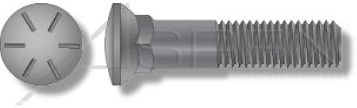 3 Head Plain 1-1//4-7 X 5-1//2 5 pcs Dome Head Grade 8 Steel Plow Bolts