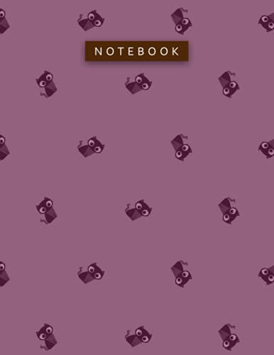 Notebook Tyrian Purple Color Small Cute Lovely Cat Face Zigzac Diagonal Patterns Cover Lined Journal: Work List, Daily, 110 Pages, Planning, 21.59 x ... To Do List, Hour, Pretty, 8.5 x 11 inch, A4